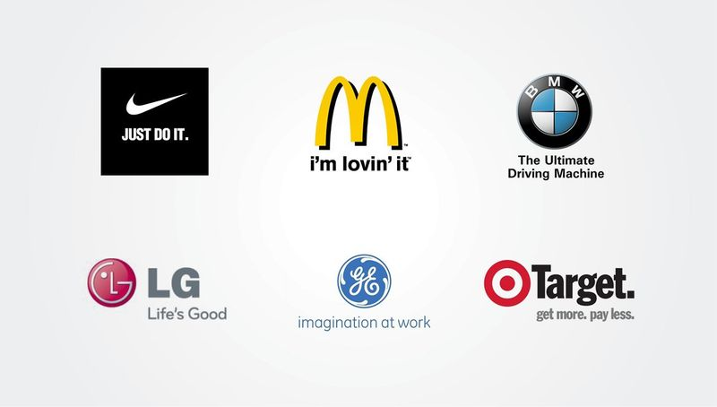 Corporate logos with tagline